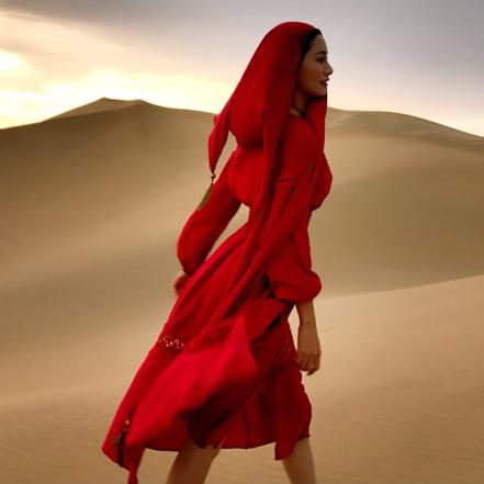 棉麻连衣裙夏迪拜尼泊尔丽江沙漠长裙亚麻吴哥窟西藏旅游必备裙子