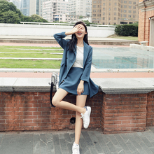 Small suit suit female 2018 spring and autumn new fashion two-piece long-sleeved casual Korean version of the chic suit jacket