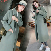 South Korea's 2017 spring leisure all-match Long Maxi coat coat dress slim female Korean tide