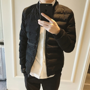 The winter cotton padded jacket male youth baseball jacket slim padded collar Korean tide thickened man