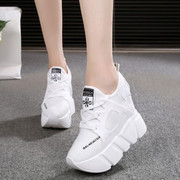 Increased in early autumn 2017 new han edition platform platform Single shoes female 11 cm joker sports network Ultra high with Hugh