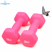 A lady of thin arm dumbbell waist Yoga aerobics children home fitness equipment male children lose weight 2kg