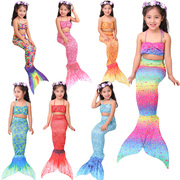 Children's clothing swimsuit girl Mermaid Princess Dress Girls Disney Baby fish tail three piece swimsuit