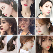 Japan and South Korea Europe long Tassel Earrings temperament simple retro pearl earrings earrings earrings female ear line geometry