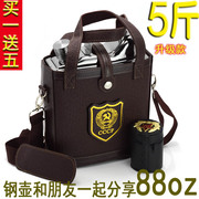 Large 2.5 kg 5 kg 304 stainless steel flagon Russia carry 88 ounces outside military portable flat barrel