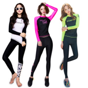 Cousin Da split zipper surf wear long sleeved swimsuit legs jellyfish clothing sunscreen sunscreen clothing female swimming and diving