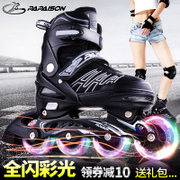 Adult adult skates roller skating shoes with adjustable children full set of female boy beginners single row roller