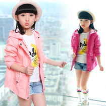 Childrens wear Spring 2017 new child windbreaker in the Korean fashion collection floral print zipper sweater girls coat