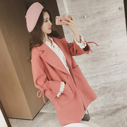 2016 students winter winter new Korean wool coat female winter in the long thick woolen coat coat tide