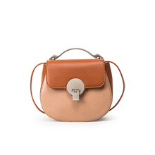 Female Bag Satchel fashion color shoulder hand bag simple all-match lock pig saddle bag bag