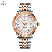 Paul Tesco fashion sports scale luminous crystal spherical mirror ultra-thin automatic steel watch