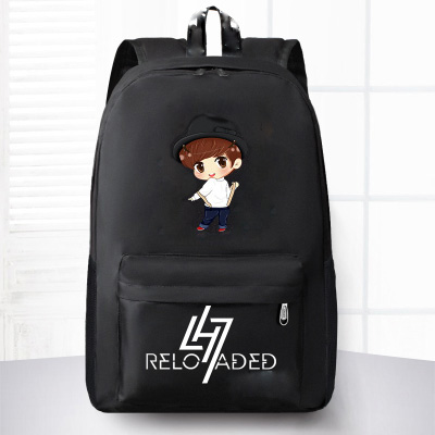 Han edition reflective exobiology MSNU backpack Lu Han to restart rucksack he him; male and female college wind bag bag