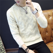 Autumn and winter - thickened Pullover Sweater knitted pure Korean men's young men's shirt