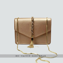 Singapore small CK handbag 2016 new Hong Kong purchase fringed mini shoulder diagonal envelope chain bag small packet