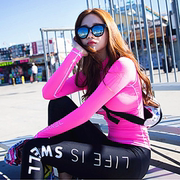 Split jellyfish swimsuit swimsuit female zipper snorkeling suit Korean long sleeved pants thin sunscreen sunscreen clothing