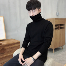 Men's shirt turtleneck sweater long sleeve winter with pure Korean CASHMERE SWEATER MENS thickening