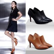 The new shoes and 2017 deep shoes with pointed high-heeled shoes with a fine leather shoes 33 yards.