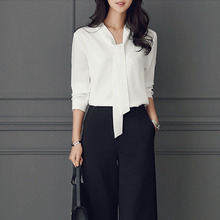 The white shirt sleeved frock dress female occupation overalls shirt code OL summer shirt Chiffon suit jacket