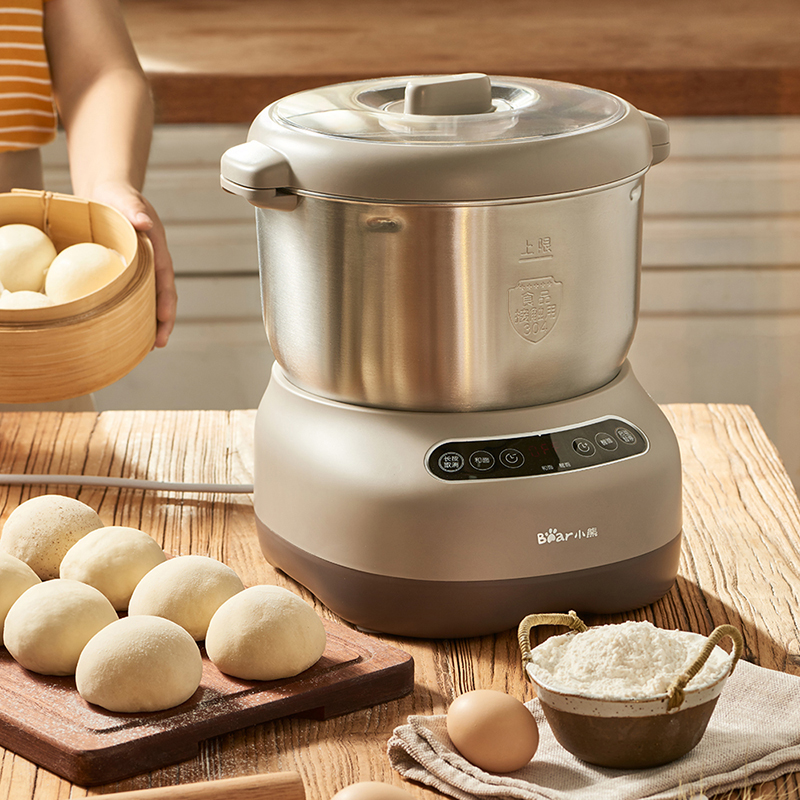 小熊家用小型全自动和面机揉面发酵机商用活面搅拌发面厨师机7升