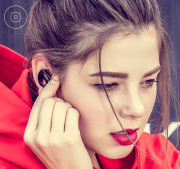 Ears sport bluetooth wireless headset, running into hanging ear plugs type ultra small contact mini stereo apple