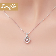 Respect reputation necklace female 925 sterling silver clover pendant South Korea clavicle chain jewelry birthday gift for girlfriend