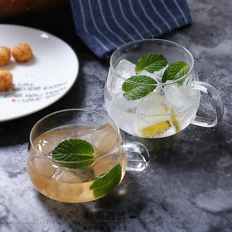 耐热耐冷 透明咖啡杯 意式浓情花式咖啡杯子透明牛奶杯果汁杯茶杯