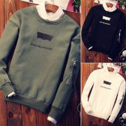 Men fall loose T-shirt long sleeve shirt Korean students with cashmere sweater shirt mens clothing trend in autumn