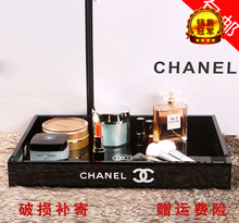Small sweet perfume lipstick desktop box Chanel skin care cosmetic storage box beauty tool tray size