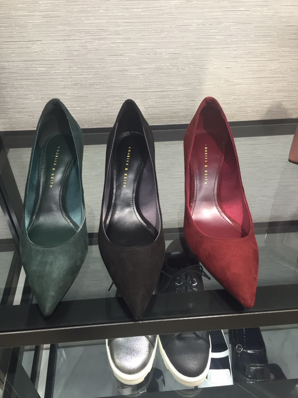 Counter authentic CHARLES& KEITH single shoes, female small CK1-60280065, European and American fine heel high-heeled shoes