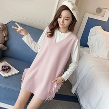 Pregnant women dress autumn 2017 new style cotton T-shirt shirt skirt dress two