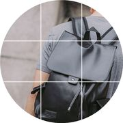 Backpack male han edition leather business tide clamshell package bag men with drawstring backpack fashion students travel bucket