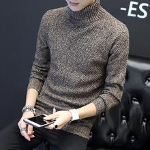 Winter turtleneck men's sweaters and cashmere trend of Korean character's loose sweater sweater shirt