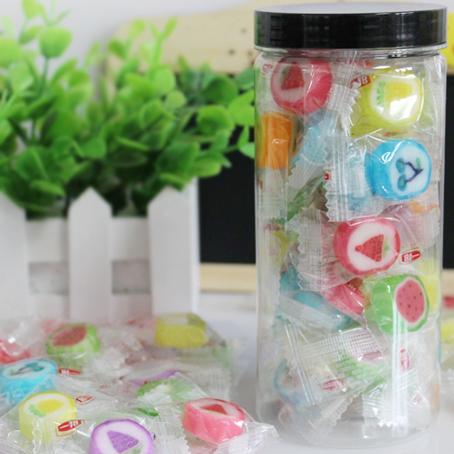 水果切片糖罐装创意韩式手工花式散装糖果微商零食四份包邮