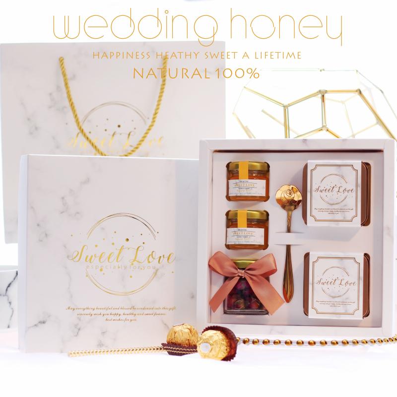 欧式创意喜糖盒子大理石结婚伴手回礼盒高档婚礼用品含糖成品定制