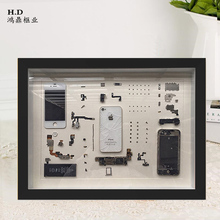 Mobile phone disassemble collection frame photo frame iPhone Apple Oppo Nokia part specimen frame stereo box