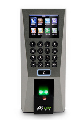 In the control of wisdom F18 fingerprint time attendance access control F18 F18 color fingerprint attendance machine