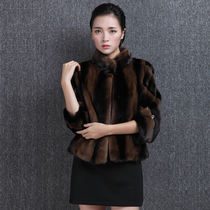 New authentic imported Haining leather ladies short mink mink fur coat collar slim jacket