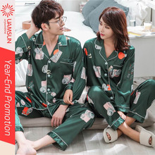 night dress for  autumn couple men casual pajamas suits