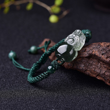 Green Phantom Mink Bracelet Knitted with Men and Women's Handrope Adjustable Strings of Green Crystals Miracle Valentine's Gift on July Eve