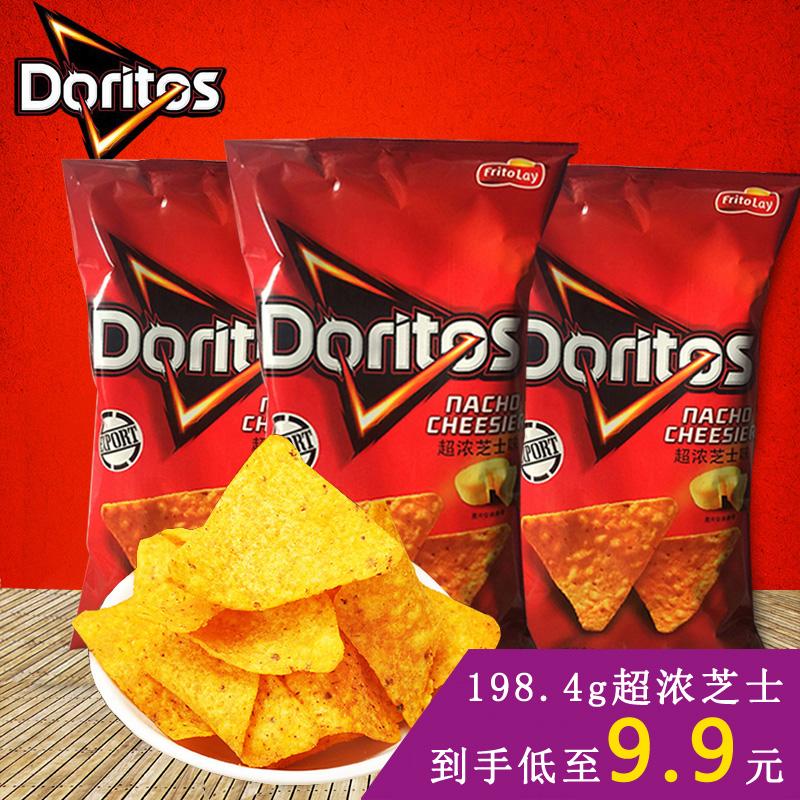 台湾 多力多滋 超浓芝士味玉米片 doritos 进口膨化大薯片零食