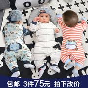 Baby baby clothes female thin cotton 6 ha 1 year old spring summer spring and autumn and winter clothing 0 men 3 months