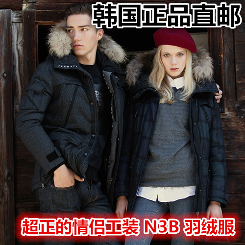 Direct mail Korean authentic purchasing, SWIB-N3B heavy equipment, men and women, lovers, fashion, outdoor warm down clothes