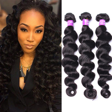 Hair curtain 9A Peruvian loose deep human virgin hair 100g weave