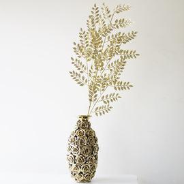 金叶银叶树 欧式仿真花束 lmdec丝网花装饰客厅大假花bling花材