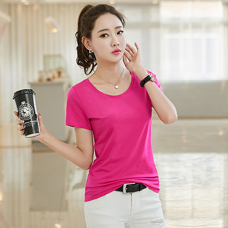 Every day special color short sleeve T-shirt, female summer pure cotton Han Dynasty, slim slim, white big size t-shirt t-shirt