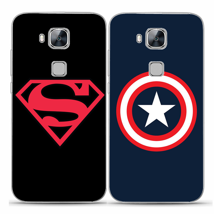 HUAWEI head 4/5 enjoy 5s/ enjoy 6/nova2plus mobile phone on American soft shell long Superman protective sleeve
