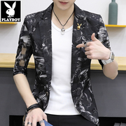 Sleeve suit male Korean slim dandy thin coat sunscreen in summer seven gauze sleeve suit