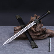Longquan sword sword dagger self-defense stainless steel small town house ancient Chinese dragon sword sword Qin sword not of edge