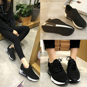 Spring air shoes leisure shoes flat shoes travel shoes Agam female Korean students all-match running shoes