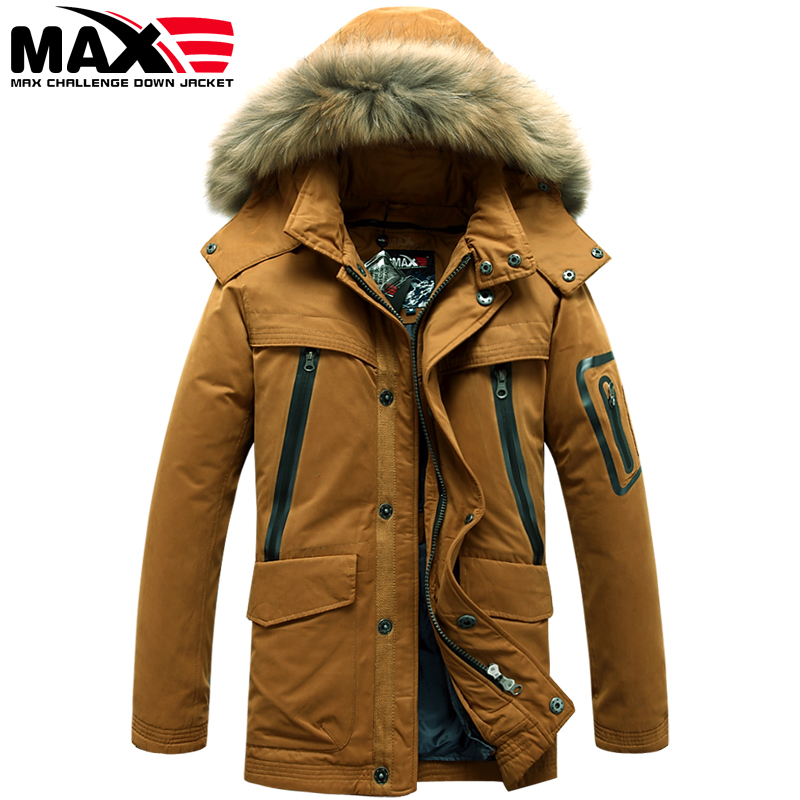 MAX counter genuine men long wool jacket padded collar male military outdoor winter coat liner.